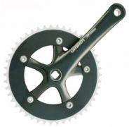 Kurbelgarnitur Prowheel 46 Zähne schwarz 165 mm Aluminium