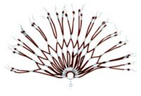 Kleiderschutz Spiralgummiwabennetz braun