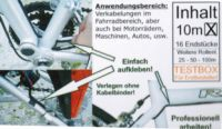 Radl-Kabel 2.0 Lichtkabel selbstklebend 2-adrig 10 Meter