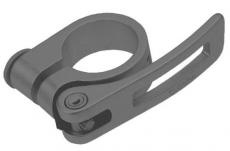 Sattelklemmschelle 28,6 mm schwarz mit Spanner & Einstellschraub