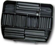 Schrumpfschlauch Box 280 Stück sortiert schwarz in Kunststoffbox