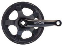 Kurbelgarnitur 40 Zähne Stahl schwarz 140 mm mit Kettenschutz