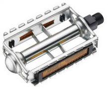 Pedal Retro Stahl mit Reflektoren 9/16 silber