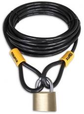 Kabelschloss LYNX 10 mm x 10 Meter mit Vorhängeschloss