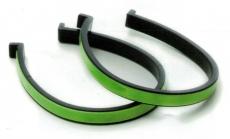 Hosenklammern Kunststoff mit Reflexstreifen
