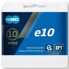 Kette KMC 10-fach E-BIKE E10 EPT 136 Glieder silber