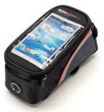 Rahmen Smartphone Tasche 17,5x9x9 cm schwarz / grau