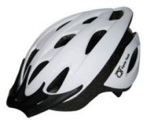 Helm Jugend - Erwachsene weiß glänzend 54 - 58 cm